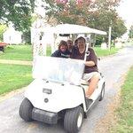 Dr. Jim and Sally taking a drive through Ewell neighborhood.
