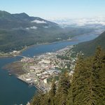 Juneau from the top of the tram
