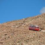 cog railway on the way up!