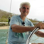 Ray, the owner and captain of the sailboat