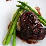 Center Cut Sirloin with port wine reduction.