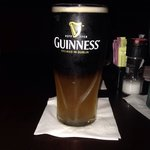Black and Blue beer. Guinness on top and Blue Moon on the bottom.