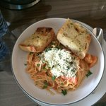 Room service dinner - Seafood Linguini - very yummy