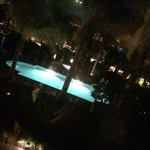 Vu sur la piscine