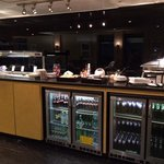 food and drink in the executive lounge