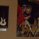 Carlos Santana's Guitar & Painting
