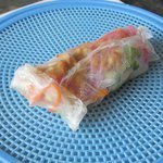Hand made rice paper roll