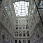 The stunning atrium