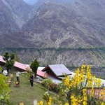 Hotel grounds in Chitral