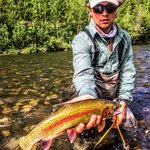 Fishing Alaska rainbow trout in July