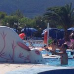 Slide in big pool