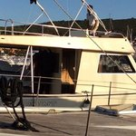 Max alla guida della barca