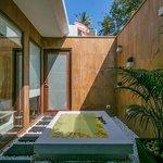 Lotus Beach Villa - luxury bathroom with sunken bath.