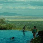 The pool area looking over Lake Manyara