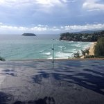 At the pool villa overlooking the Andaman sea