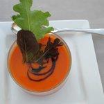 Soupe melon et poivron doux (menu fripouille)