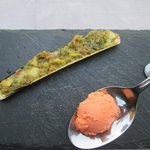 Amuse bouche: couteau farçi et sorbet de homard