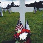 Mémorial day 2014. Parrainage de tombes grâce à l'association Les Fleurs de la Mémoire