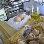 Home made pasta and ravioli