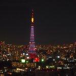 部屋から見た夜景!東京タワーをゆっくり眺めて至福の時でした☆