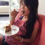 Enjoying carrot cake