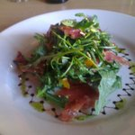 Butternut squash and Serrano ham salad