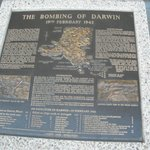 WW2 Info Board of Bombings