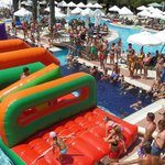 Inflatable fun during pool games!