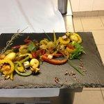 salade de poivrons et calamars
