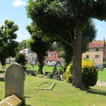 The village green in Alfriston with lots of tearooms etc.