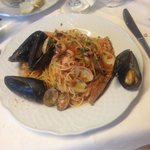 Great spaghetti with seafood