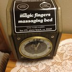 massaging bed!