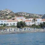 View of hotel from the sea