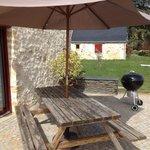 La terrasse en granit de notre gîte LA GRANGE*****