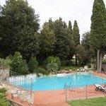 Blik op zwembad Hotel Stanley Sesto Fiorentino