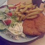 Lovely chicken schnitzel :)