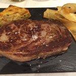 Carne americana muy tierna con yuca