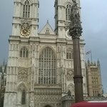 Westminster Abbey from the top of the Big Bus