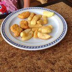 A child portion of chicken nuggets and chips (this is how it arrives) for 4.50 euro- bargain NOT