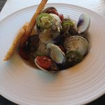 baby clam appetizer - even licked the shells!!