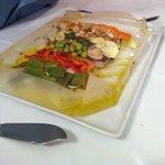 Ottimo pescato al cartoccio con verdure