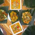 Nos plats...un super souvenir que ce cours de cuisine!