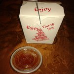 Our 'doggy bag' and dipping sauce