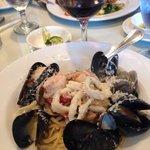 Linguini del mar with scampi sauce