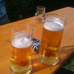 bier tijdens de linedance optreden