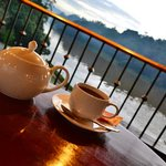 tea at sunset Time with free nice view of the river