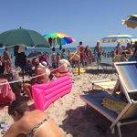 A fianco del lido, spiaggia libera