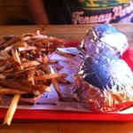 Willy burger and fries. yum!