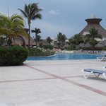 Tthe pool area