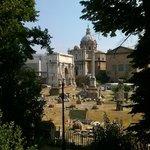 Vista da rua do Hotel: Forum Romano